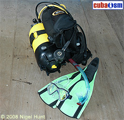 Divers Equipment Maria La Gorda